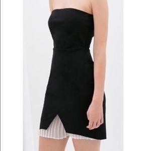 Zara black strapless dress size M NWT $69